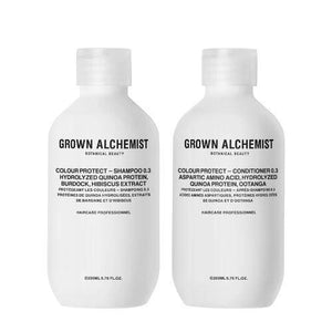 Set de champú y acondicionador protector del color de GROWN ALCHEMIST - Colour Protect Hair Care Twinset 0.3 Champús