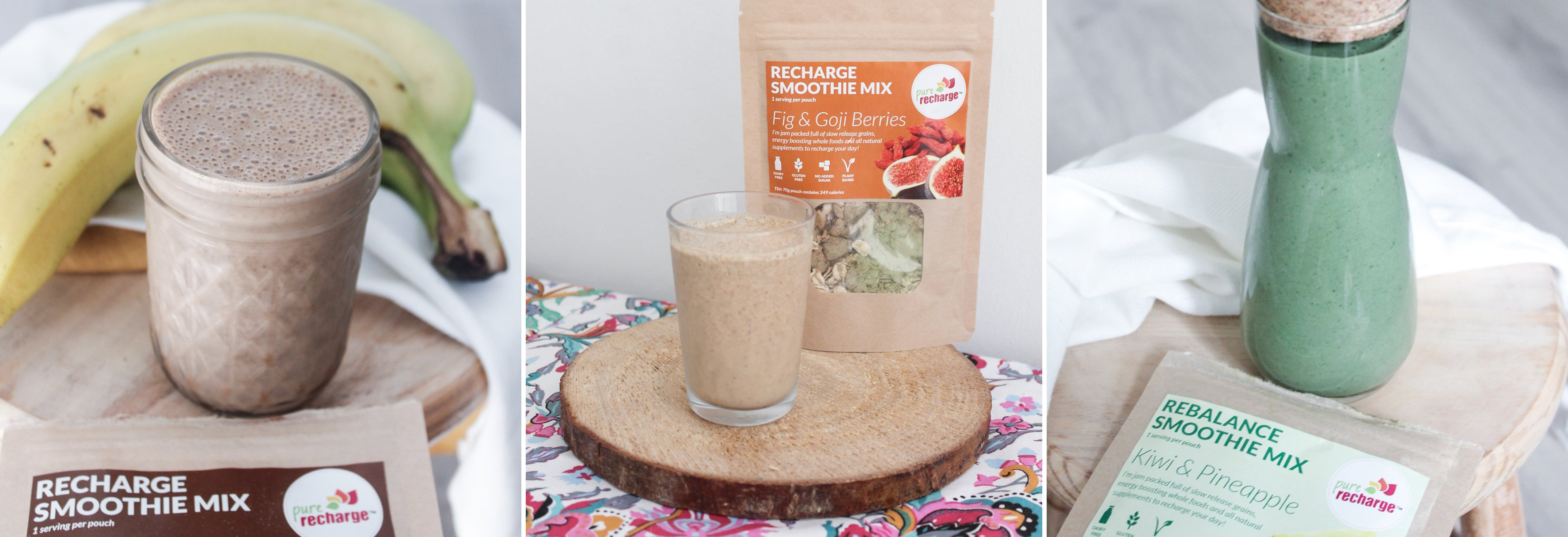 Pure Recharge Smoothie mixes
