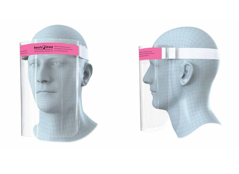 Protective Full Face Safety Pink Beauty Shield