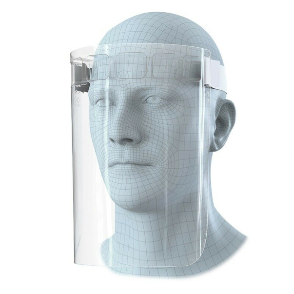 Protective Full Face Safety Face Protector Shield - Clear