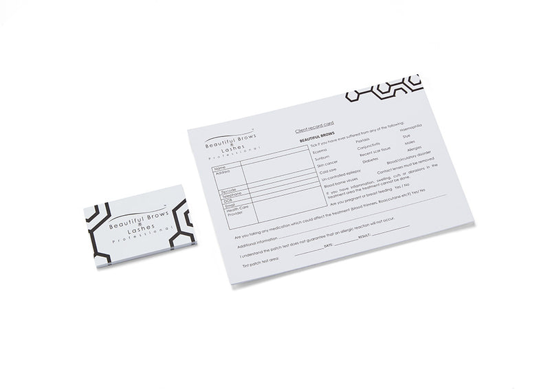 Beautiful Brows Client Record Cards