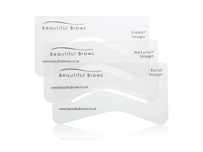 PRO Beautiful Brows Eyebrow Stencil Set x6