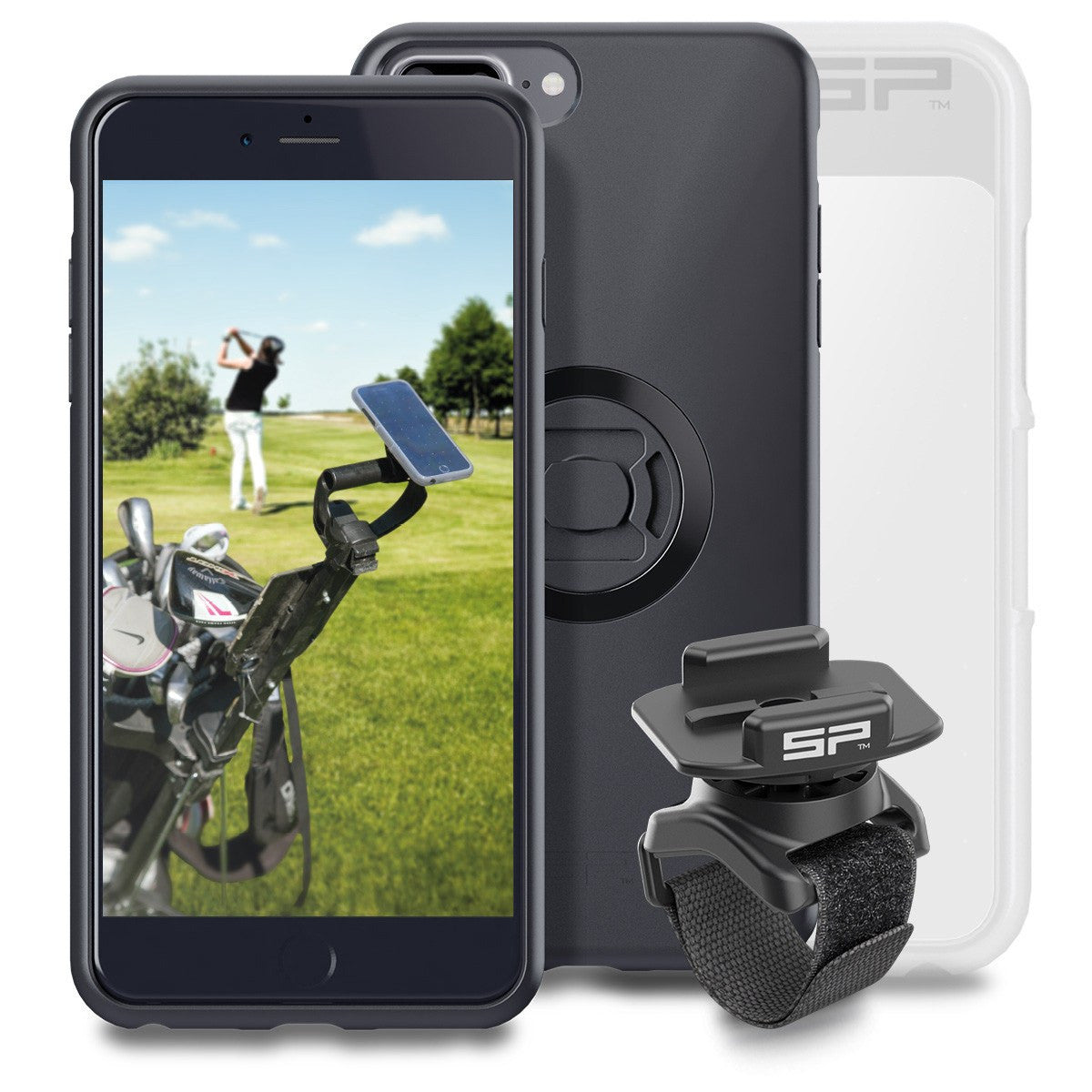 sp connect golf bundle for attaching your phone to a. Black Bedroom Furniture Sets. Home Design Ideas