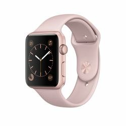 Apple Series 2 (42mm) Watch with Rose Gold Aluminium Case and Pink Sand Sport Band
