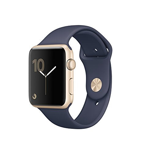 Apple Watch Series 1 42mm Gold Aluminum Case - Midnight Blue Sport Band
