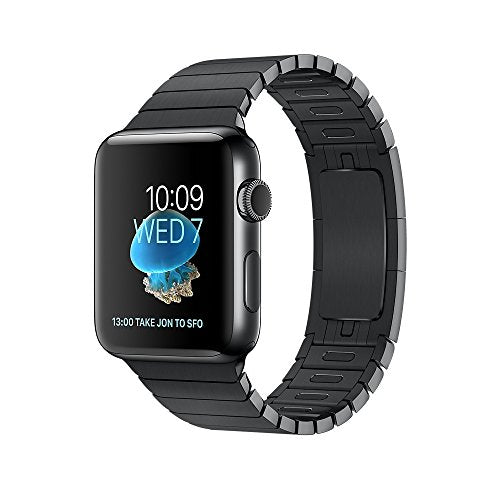 Apple Series 2 42 mm Stainless Steel Case Smartwatch with Link Bracelet - Space Black