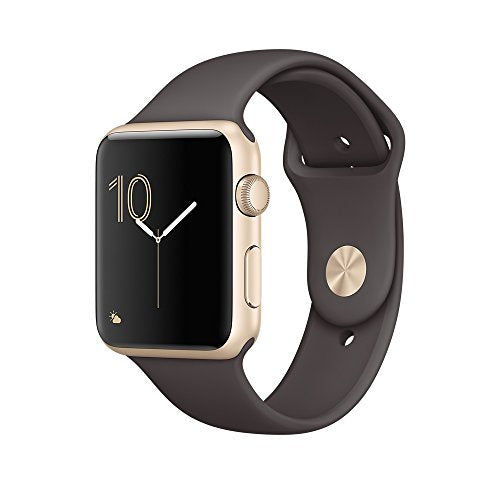Apple 42 mm Series 1 Smart Watch with Cocoa Sport Band - Gold