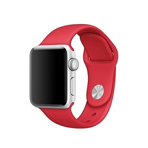 Apple Watch replacement strap by 94xStore (Red)