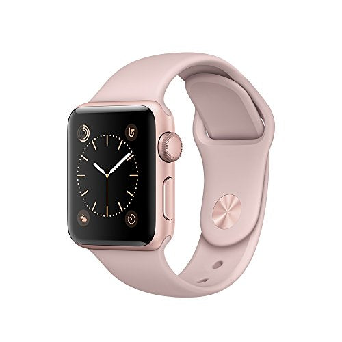 Apple 38 mm Series 1 Smart Watch with Pink Sand Sport Band - Rose Gold