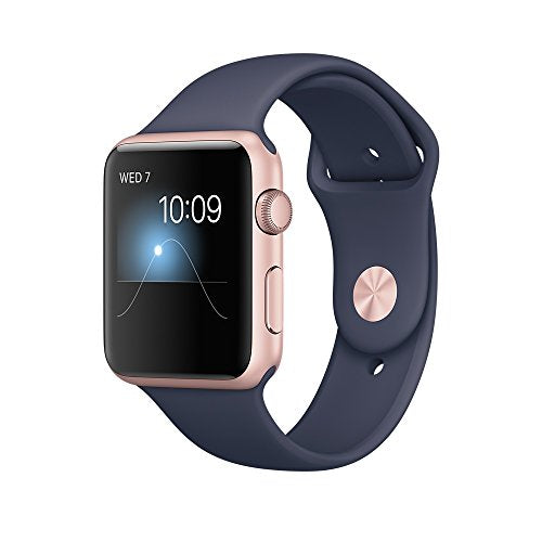 Apple 42 mm Series 1 Smart Watch with Midnight Blue Sport Band - Rose Gold