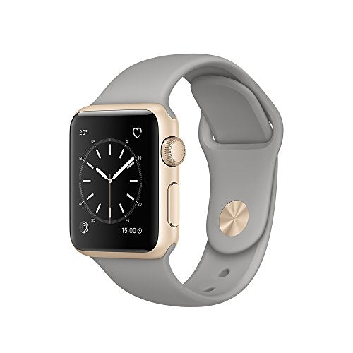 Apple 38 mm Series 1 Smart Watch with Concrete Sport Band - Gold