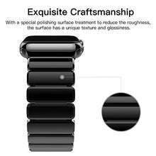Oittm Band for Apple Watch Stainless Steel Bracelet Wristband for Apple Watch Series 3/ Apple Watch Series 3 with Cellular 42mm Replacement Strap for iWatch 42mm Movable Mental Link Band for Apple Watch Series 2/ Apple Watch Series 1-42mm (Black)