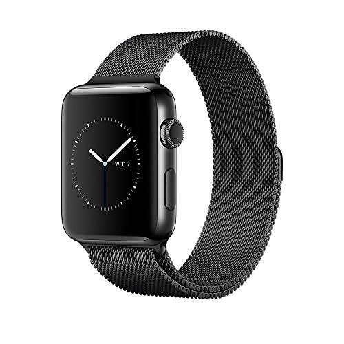 Apple Series 2 42 mm Stainless Steel Case Smartwatch with Milanese Loop - Space Black