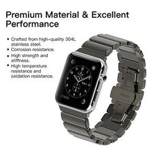 Oittm Band for Apple Watch Stainless Steel Bracelet Wristband for Apple Watch Series 3/ Apple Watch Series 3 with Cellular 42mm Replacement Strap for iWatch 42mm Movable Mental Link Band for Apple Watch 42mm Series 2/ Apple Watch 42mm Series 1 (Space Grey
