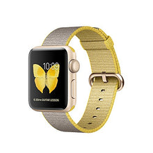 Apple Series 2 38 mm Aluminium Case Smart Watch with Woven Nylon Band - Gold/Yellow/Grey