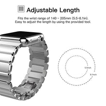 Oittm Band for Apple Watch Stainless Steel Bracelet Wristband for Apple Watch Series 3/ Apple Watch Series 3 with Cellular 42mm Replacement Strap for iWatch 42mm Movable Mental Link Band for Apple Watch 42mm Series 2/ Apple Watch Series 1 (Smooth Silver)