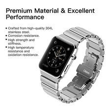 Oittm Band for Apple Watch Stainless Steel Bracelet Wristband for Apple Watch Series 3/ Apple Watch Series 3 with Cellular 42mm Replacement Strap for iWatch 42mm Movable Mental Link Band for Apple Watch Series 2/ Apple Watch Series 1-42mm (Silver)