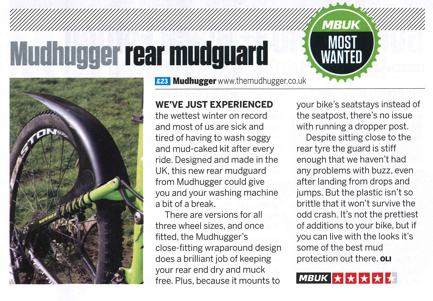 SMALL rear Mudhugger (previously The 'Original')
