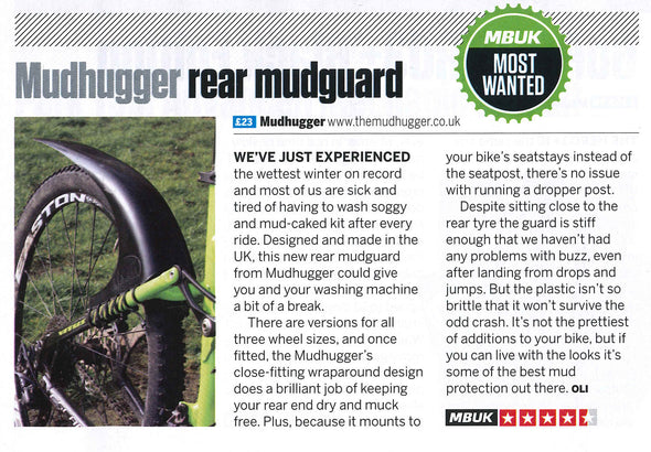 SMALL rear Mudhugger (previously The 'Original' )
