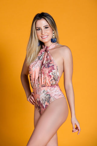 FALESIA CARIOCA - Pumar Salmon One Piece Swimsuit - ByMargue