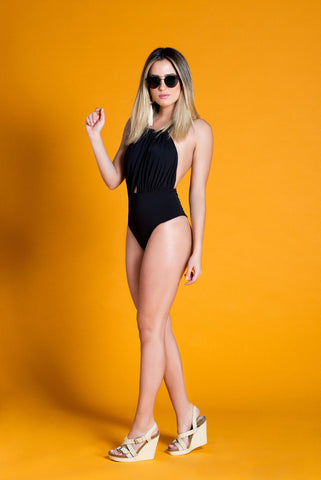 FALESIA CARIOCA - Rope Black One Piece Swimsuit