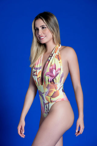FALESIA CARIOCA - Rope Yellow One Piece Swimsuit - ByMargue