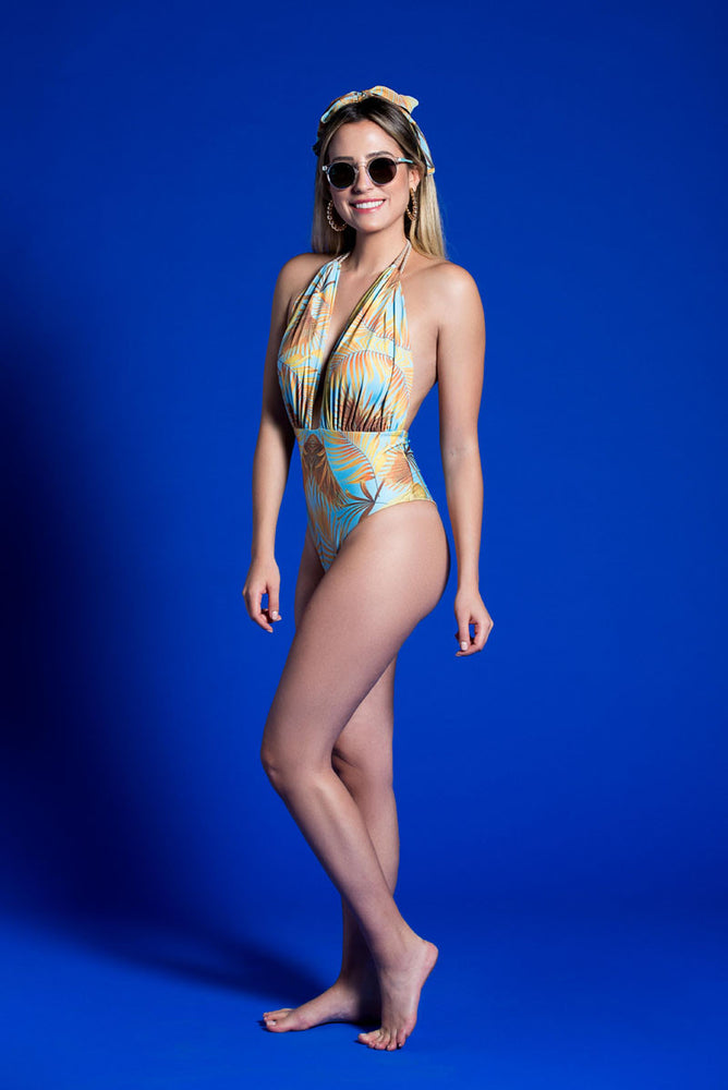 FALESIA CARIOCA - Wamp Blue One Piece Swimsuit - ByMargue