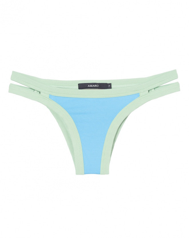 AMARO - Mint Blue Gap Bottom - ByMargue