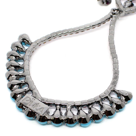 BARBARA BRUNCA FOR PIUKA - 43500 - NIARIA TURQUOISE AND PINK PLATED IN BLACK RHODIUM