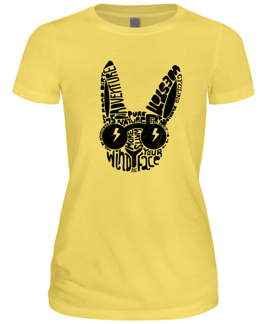 2018 BRBF Tee - Woman's Limited Edition Yellow/Black