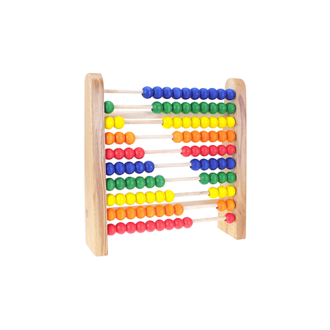 Edu Fun Wooden Counting Abacus 10 Rows