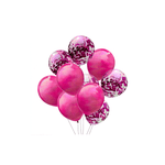 Ding Confetti Latex Balloons Pack of 10