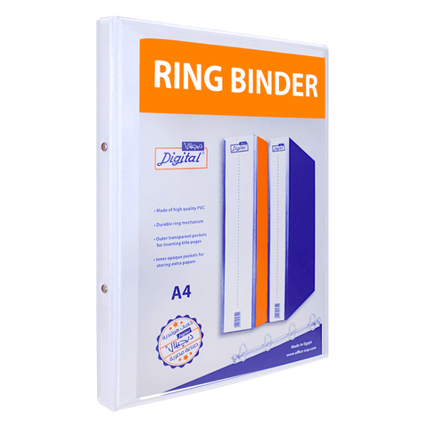 Digital Loose Leaf 2-Ring Binder 1.5 cm White A4