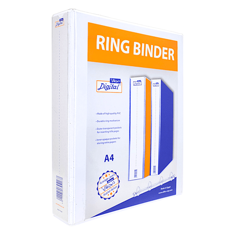 Digital Loose Leaf 2-Ring Binder 6 cm White A4