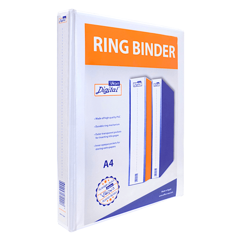 Digital Loose Leaf 3-Ring Binder 4 cm White A4