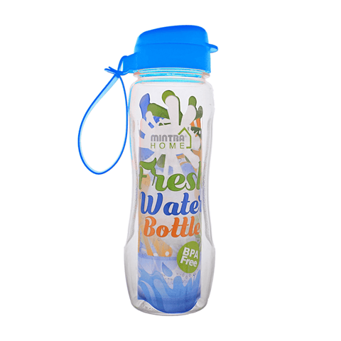 Mintra Fresh Water Bottle Colored Cap 650 ml