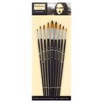 Bomega Round Artist Brush Set A804 Pack of 9