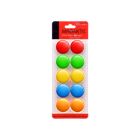 Amjiya Round Whiteboard Magnetic Button Set of 10 Pcs