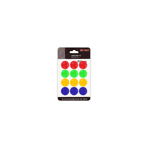 Amjiya Round Whiteboard Magnetic Button Set of 12 Pcs