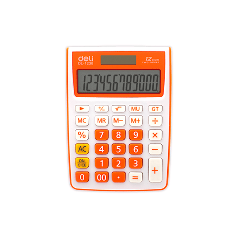 Deli Electronic Basic Calculator #1238 12 Digits