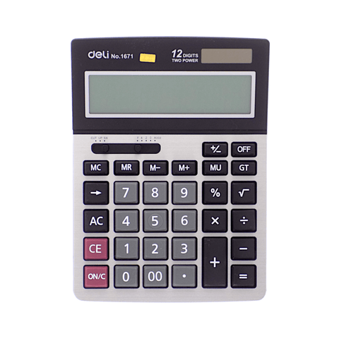Deli Electronic Basic Calculator #1671 12 Digits