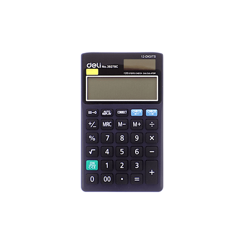 Deli Electronic Basic Calculator #39278C 12 Digits
