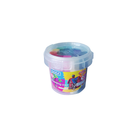 Nara Modeling Clay Bucket of 12 Assorted Colors 200 g
