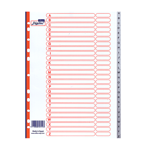 Digital Multi-Tab Alphabetic Index Dividers