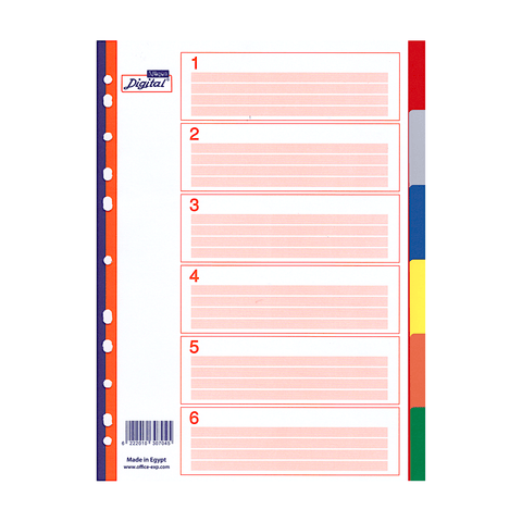 Digital Multi-Tab Colored Index Dividers