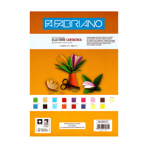 Fabriano Colored Drawing Paper 180 gsm A4 Sheet