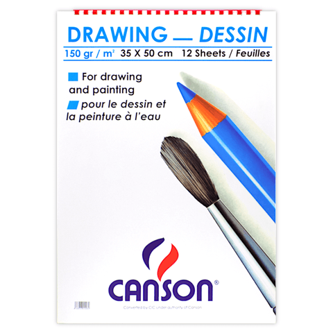 Canson Sketchbook 12 Sheets 150 gsm White B3