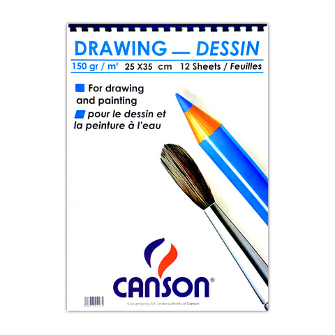 Canson Sketchbook 12 Sheets 150 gsm White B4