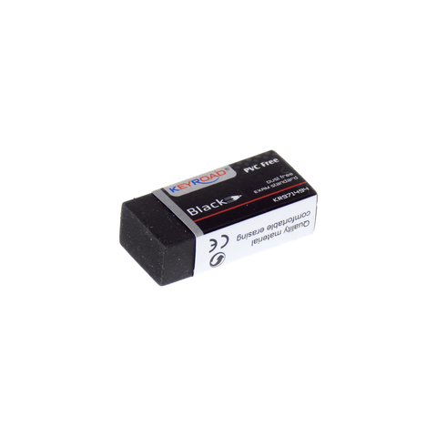 Keyroad PVC Free Eraser Medium Black