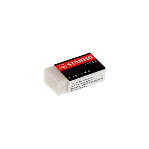 Stabilo  Supreme Eraser Small White